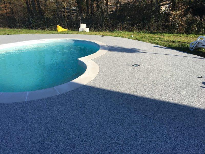 Sol moquette de marbre piscine