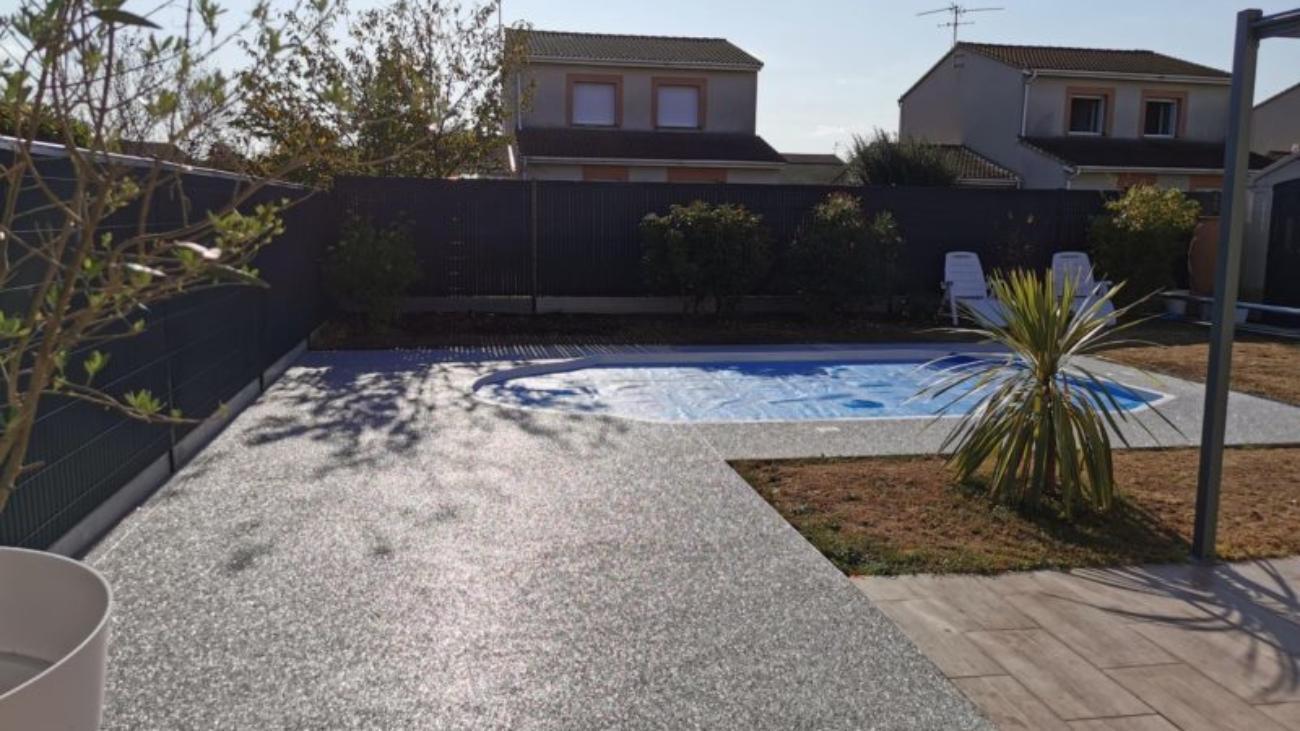 Revêtement drainant piscine