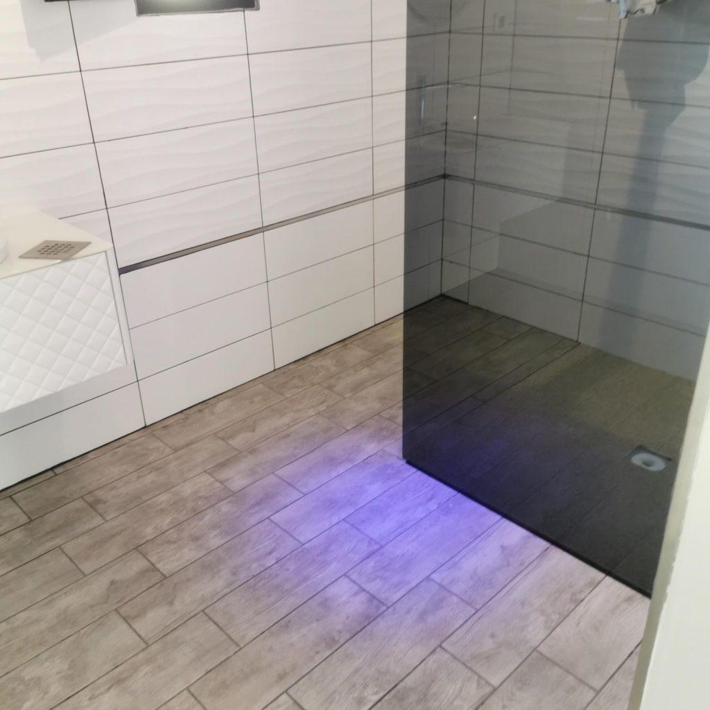 revêtement sol douche italienne